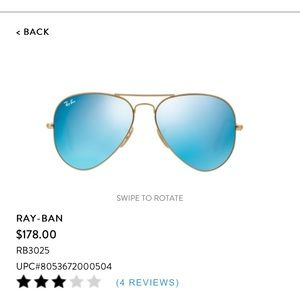 Ray Ban mirror collection aviators